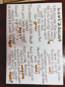 Levi's birthday poem